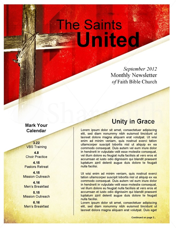 Newsletter Cross Template | page 1