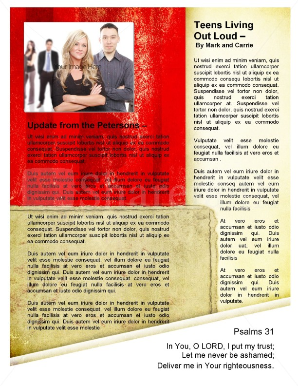 Newsletter Cross Template