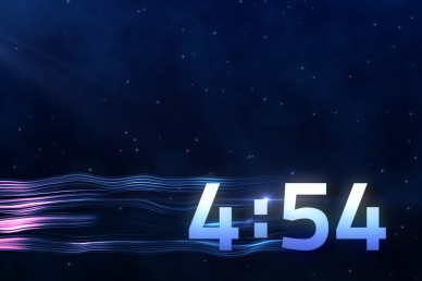 Five Minute Blue Countdown Timer