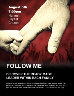 Father's Hand Church Flyer