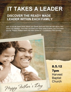Father's Day Services Flyer