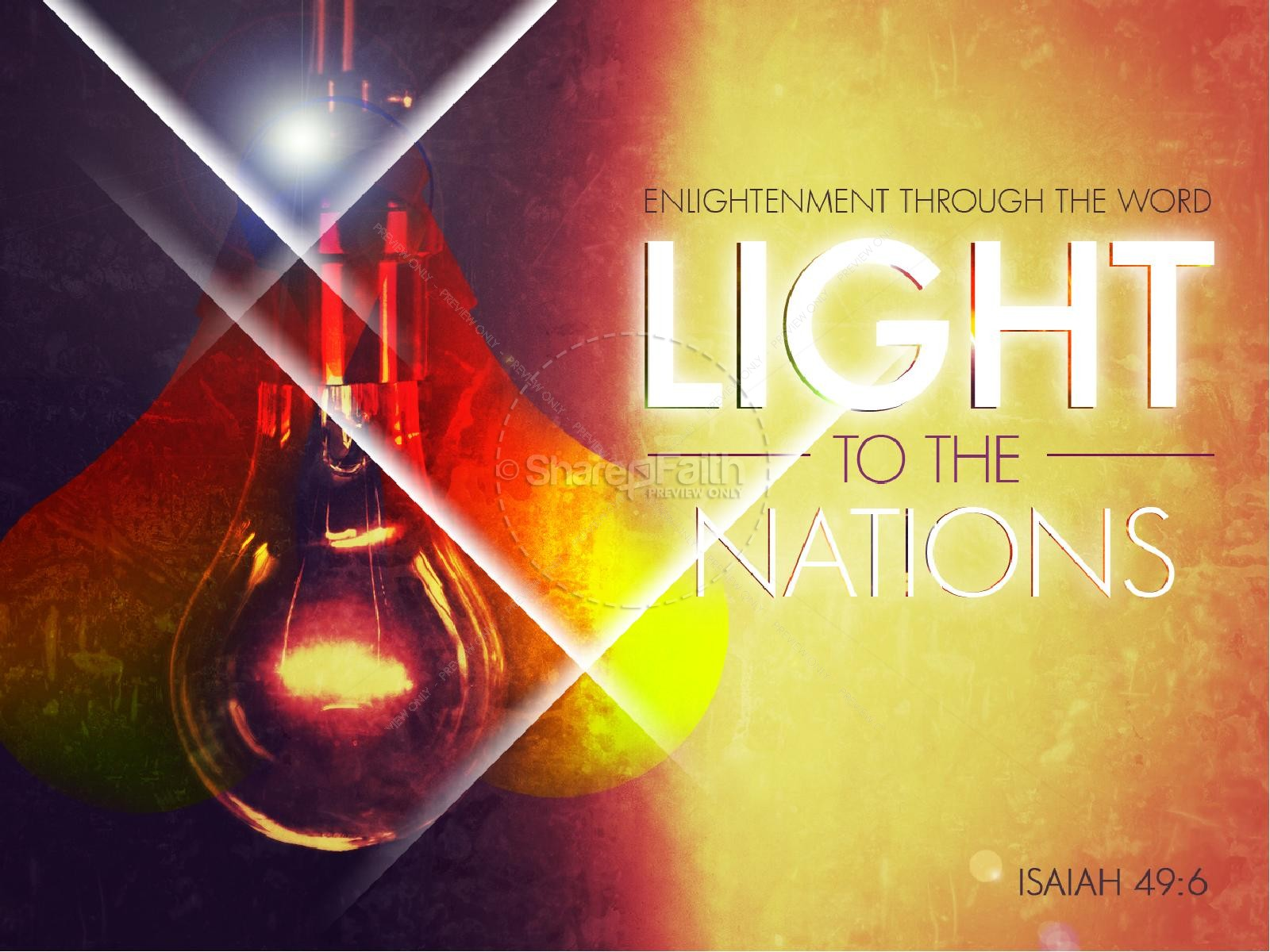 Light to the Nations PowerPoint Sermon | slide 1