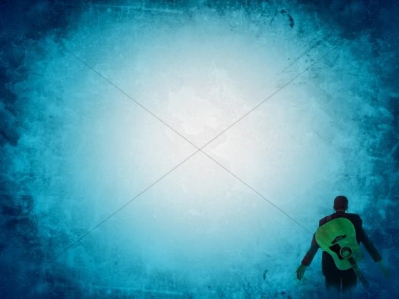 Blue Light Worship Background