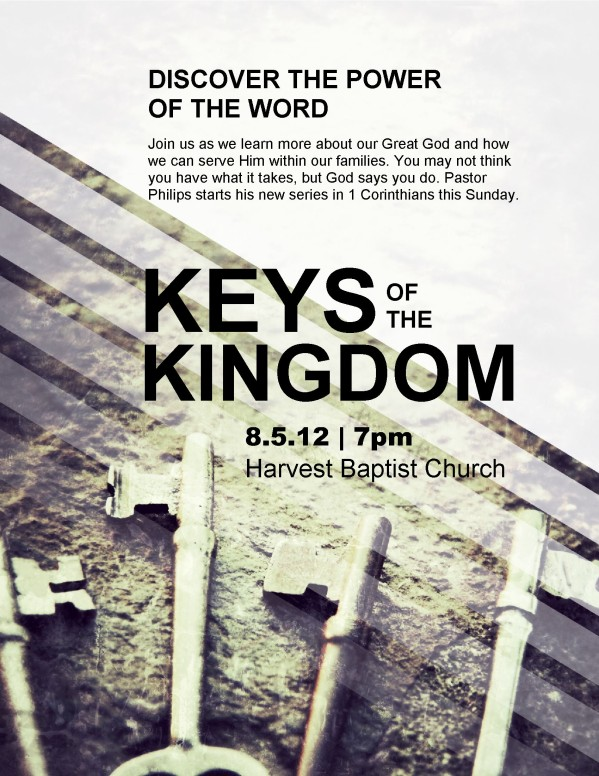 Keys of the Kingdom Flyer Template