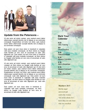 Baptism Church Newsletter Template