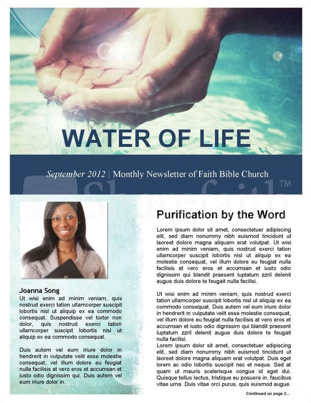 Baptism Church Newsletter Template