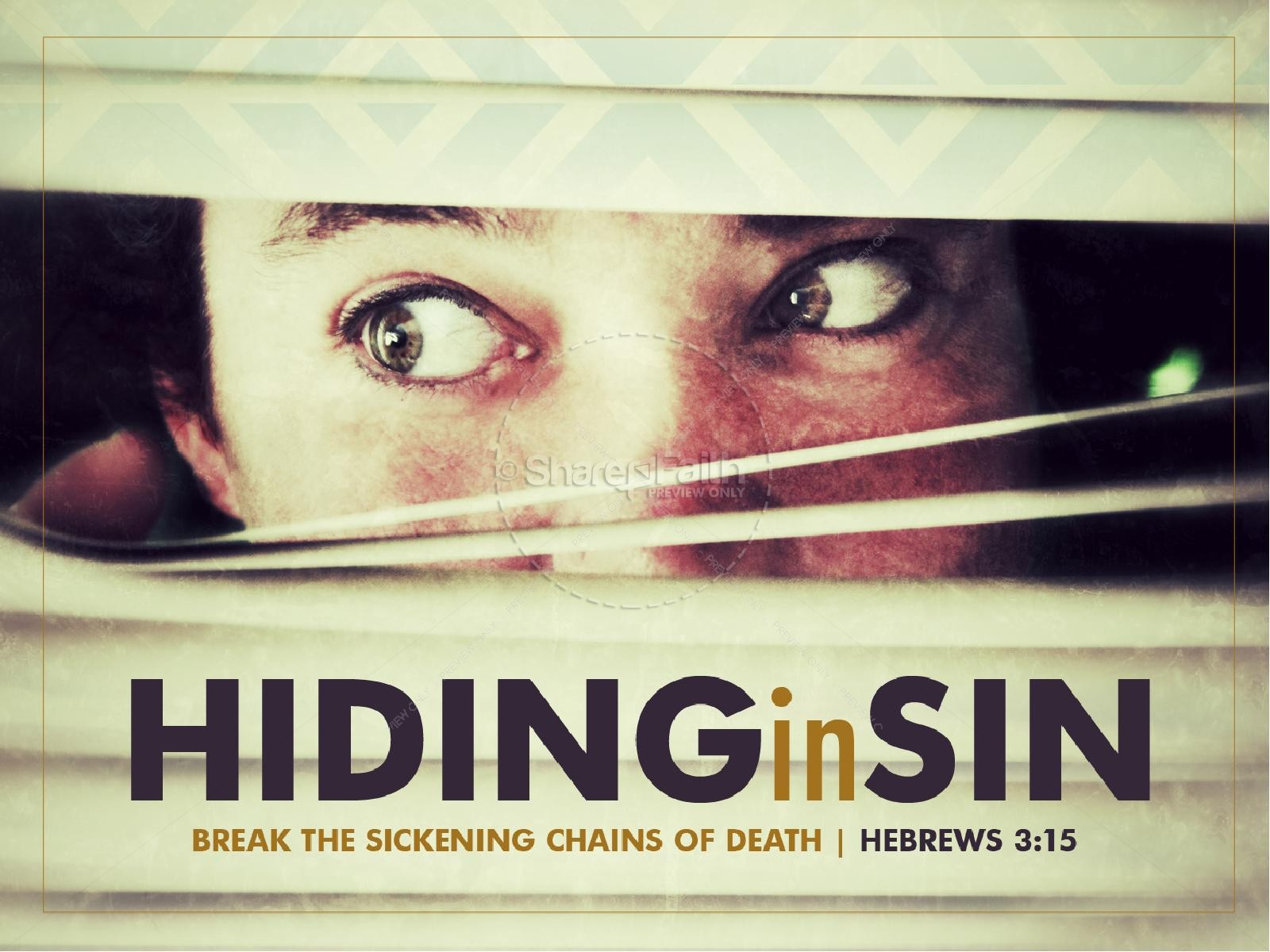 Hiding in Sin PowerPoint Sermon | slide 1