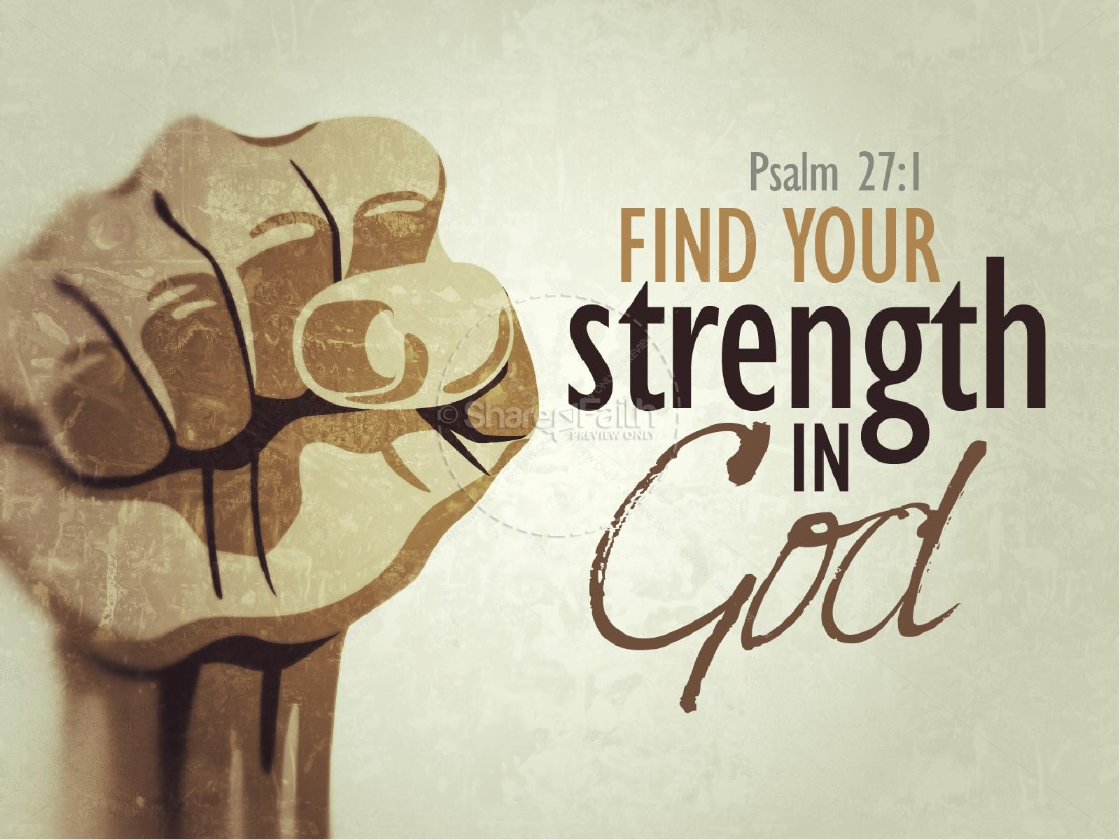 Strength in God PowerPoint Sermon | slide 1