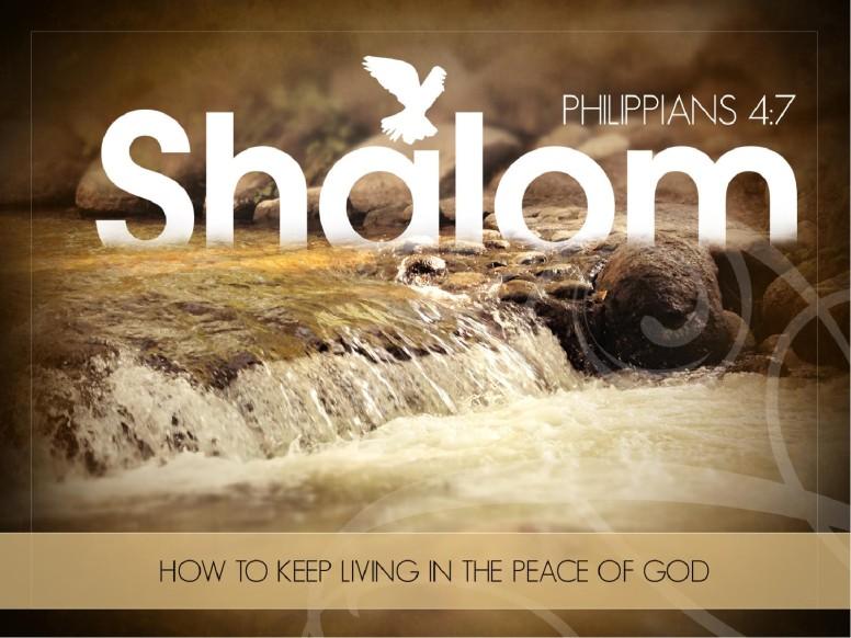 Peace of God PowerPoint Sermon