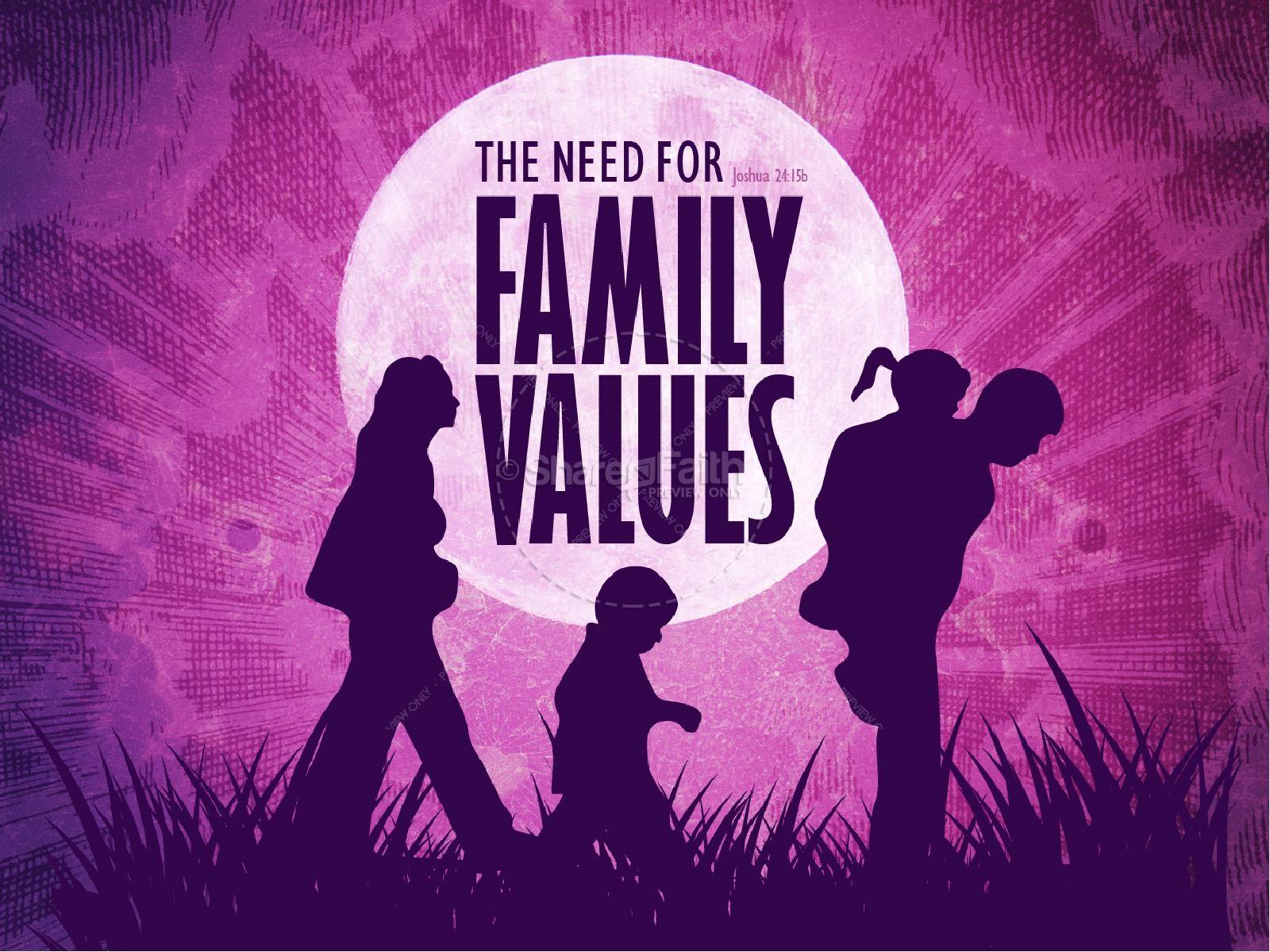 Family Values PowerPoint Sermon