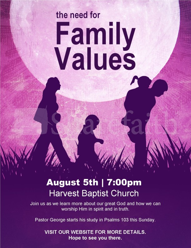 Family Flyer Template