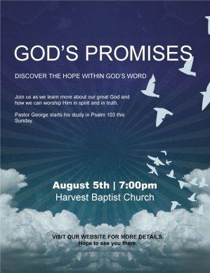 Promises of God Church Flyer