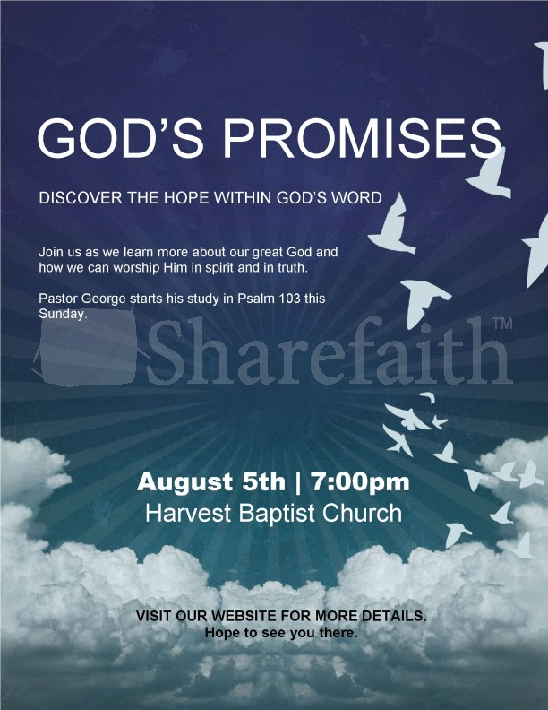 Promises of God Church Flyer | page 1