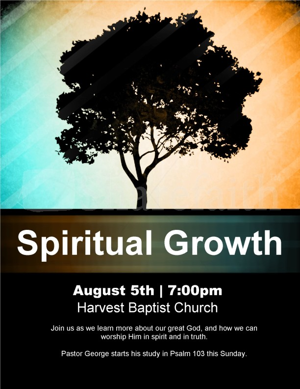 Spiritual Growth Church Flyer | page 1