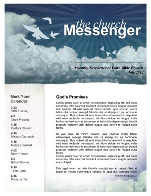Promises of God Church Newsletter