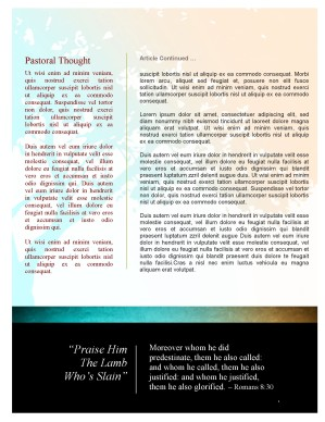 Spiritual Growth Church Newsletter Template