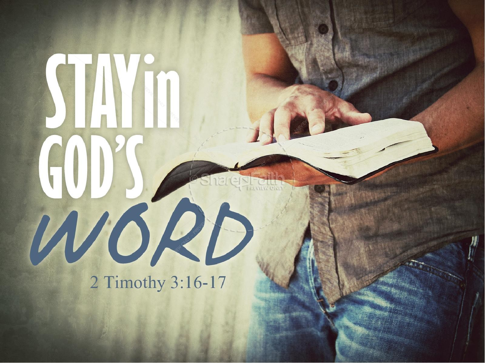 Stay in God's Word PowerPoint Sermon | slide 1