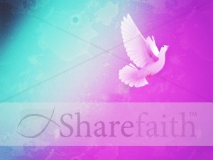 Holy Spirit Worship Background Template