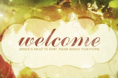 Church Service Welcome Video Loop