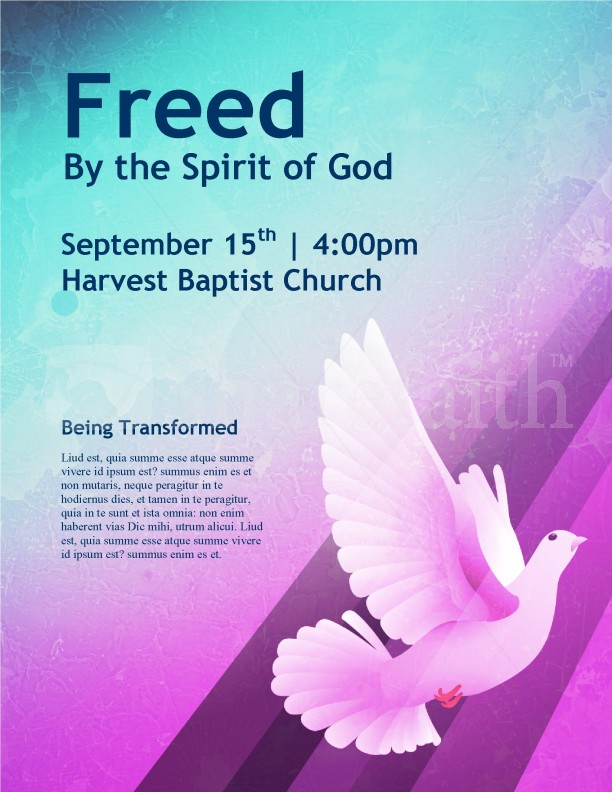 Dove church flyer template template flyer templates for Religious flyers template free