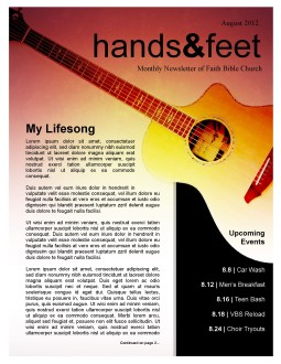 Guitar Newsletter Template