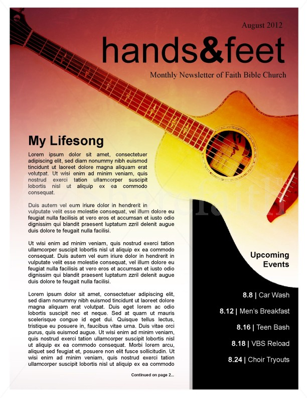 Guitar Newsletter Template | page 1