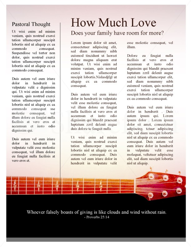 Guitar Newsletter Template | page 3