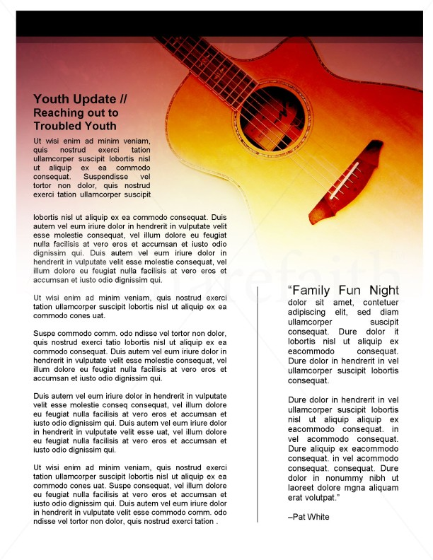 Guitar Newsletter Template | page 4