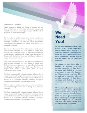 Holy Spirit Dove Church Newsletter Template