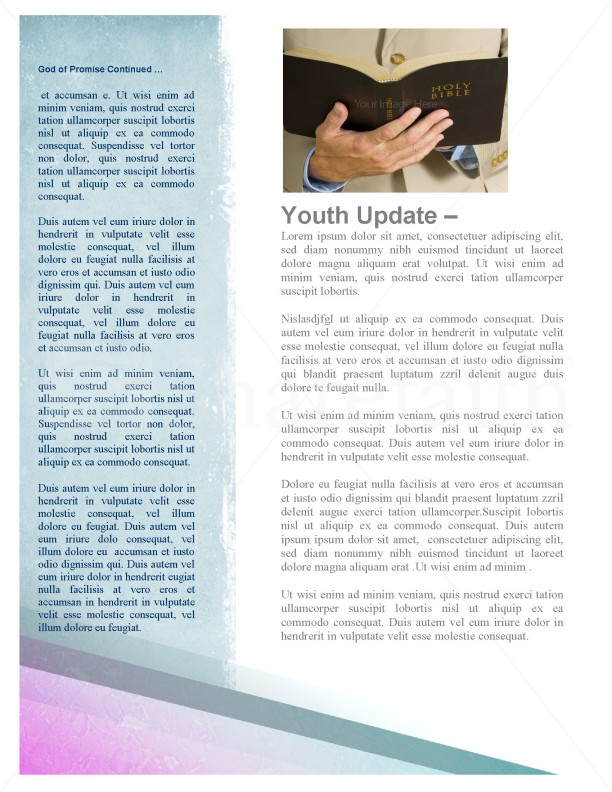 Holy Spirit Dove Church Newsletter Template | page 2