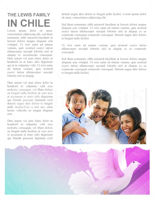 Holy Spirit Dove Church Newsletter Template | page 4