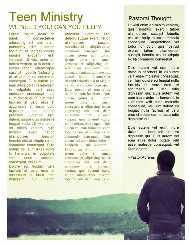 Nature Scene Church Newsletter