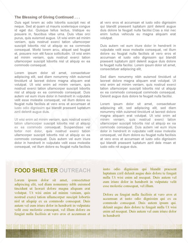 Jesus' Hand Church Newsletter Template | page 2