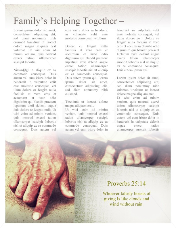 Jesus' Hand Church Newsletter Template | page 3