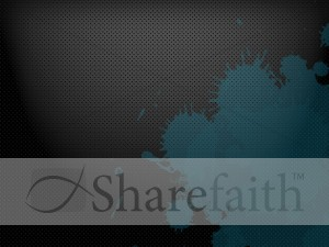 Metallic Gray and Blue Worship Background