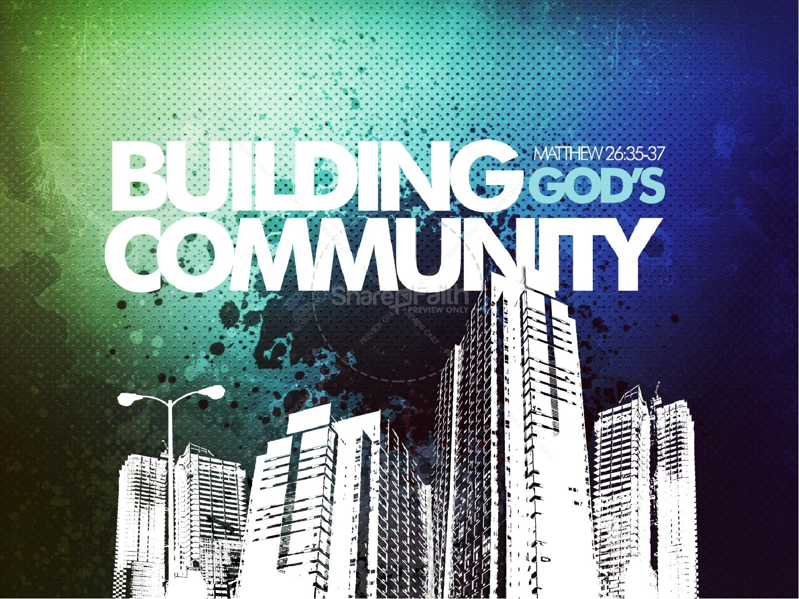 Building God's Community Sermon PowerPoint Template | slide 1