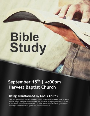 God's Word Church Flyer Template