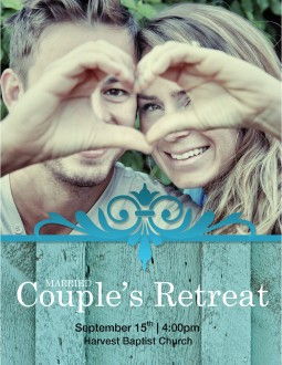 Married Couples Retreat Flyer Template