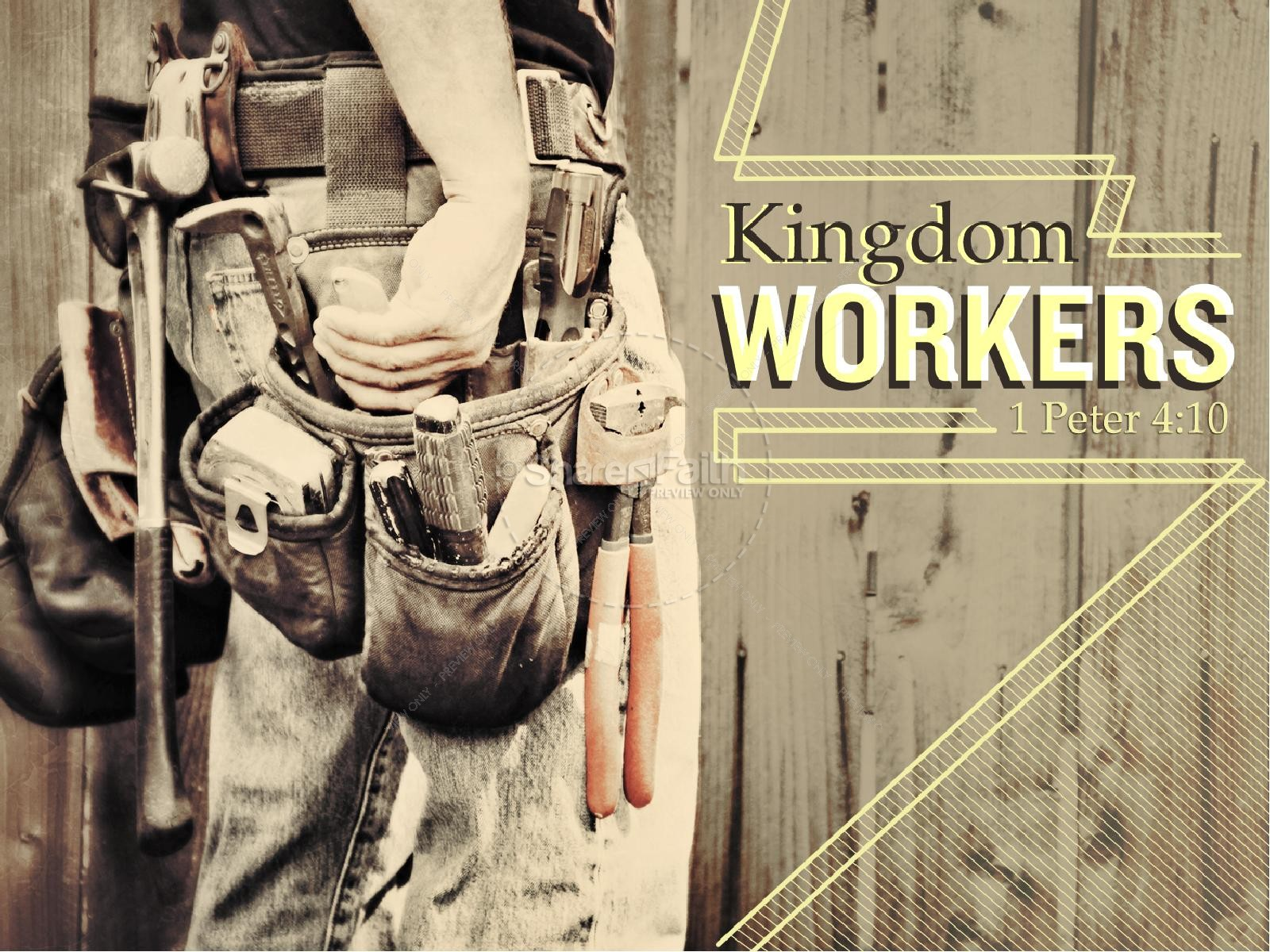 Kingdom Workers PowerPoint Sermon | slide 1