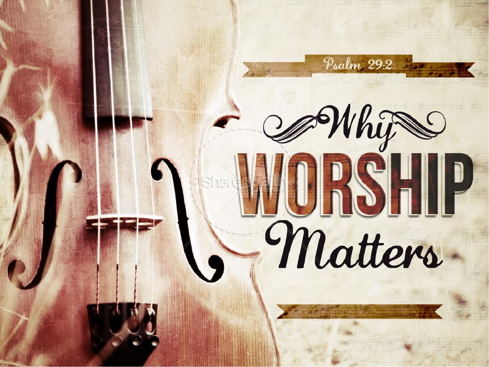 Why Worship Matters PowerPoint Sermon | slide 1
