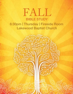 Fall Bible Study Flyer Template