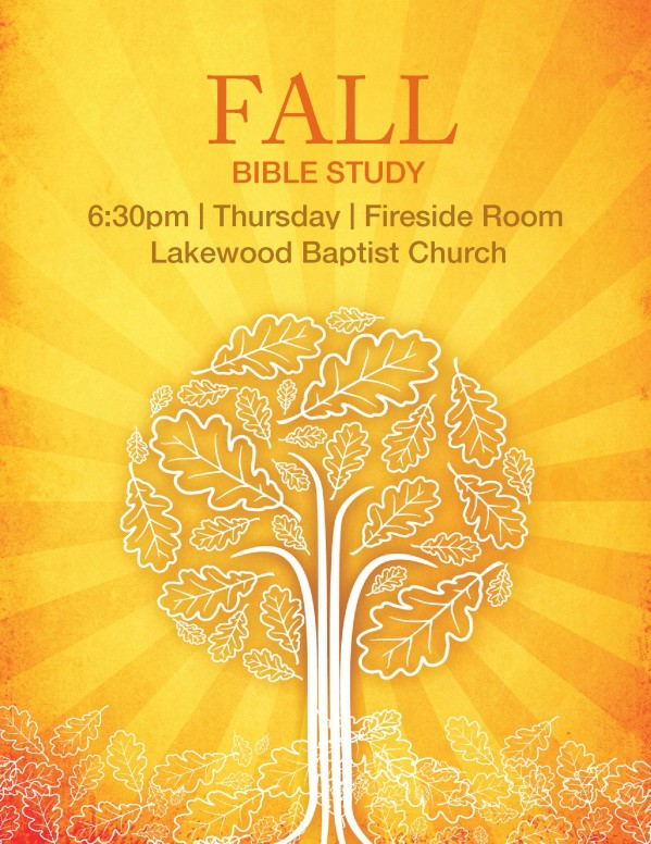 Fall Bible Study Flyer Template