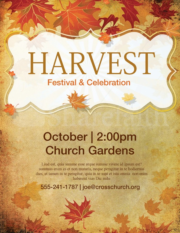 Church Harvest Festival Flyer Template | page 1
