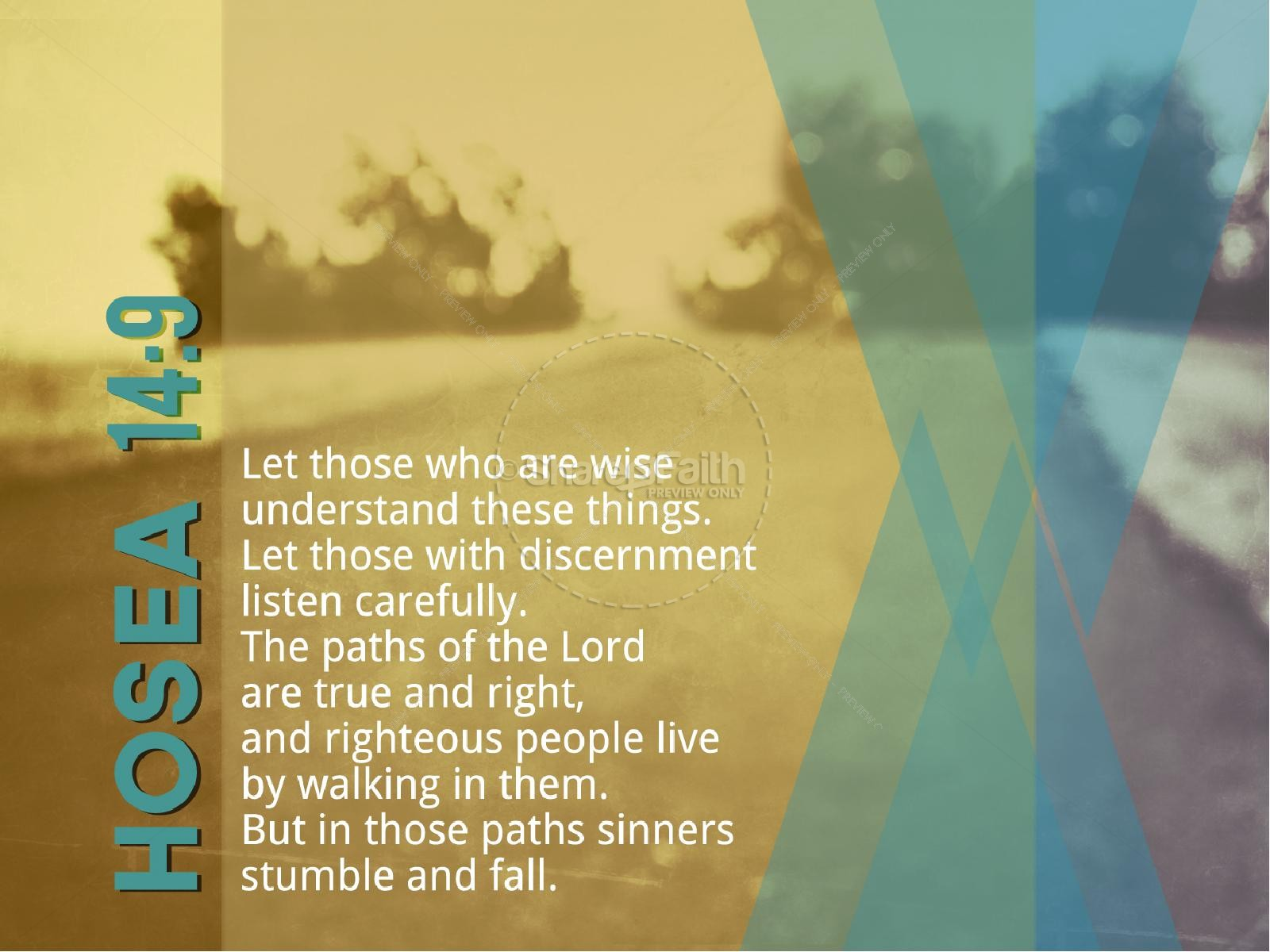 Hosea 14:9 Sermon PowerPoint Template