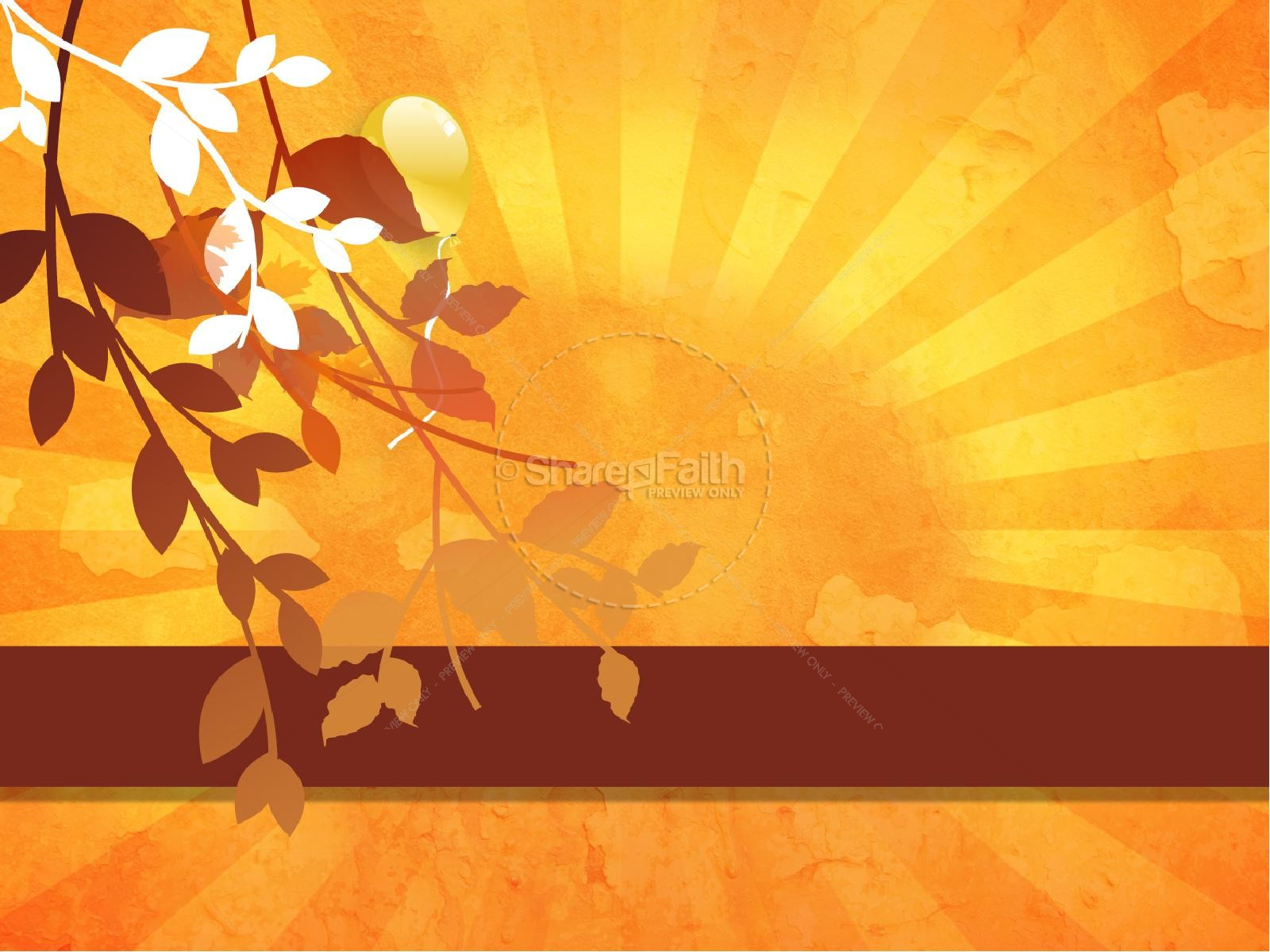 Fall Celebration Church PowerPoint Thanksgiving