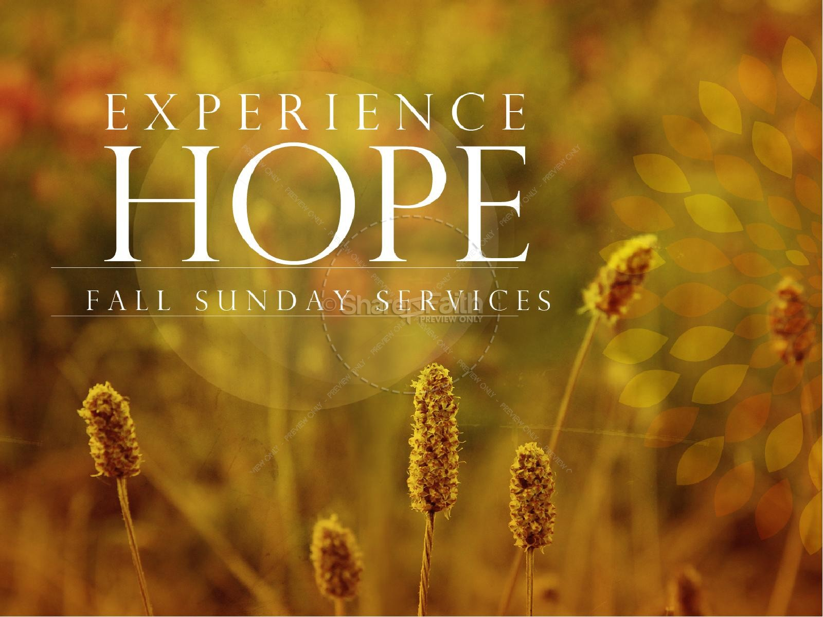 Experience Hope Fall PowerPoint