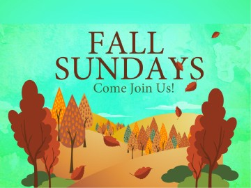 Fall Sundays Church PowerPoint