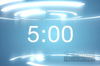 Electric Blue Countdown Timer