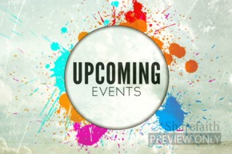 Upcoming Events Church Video Loop