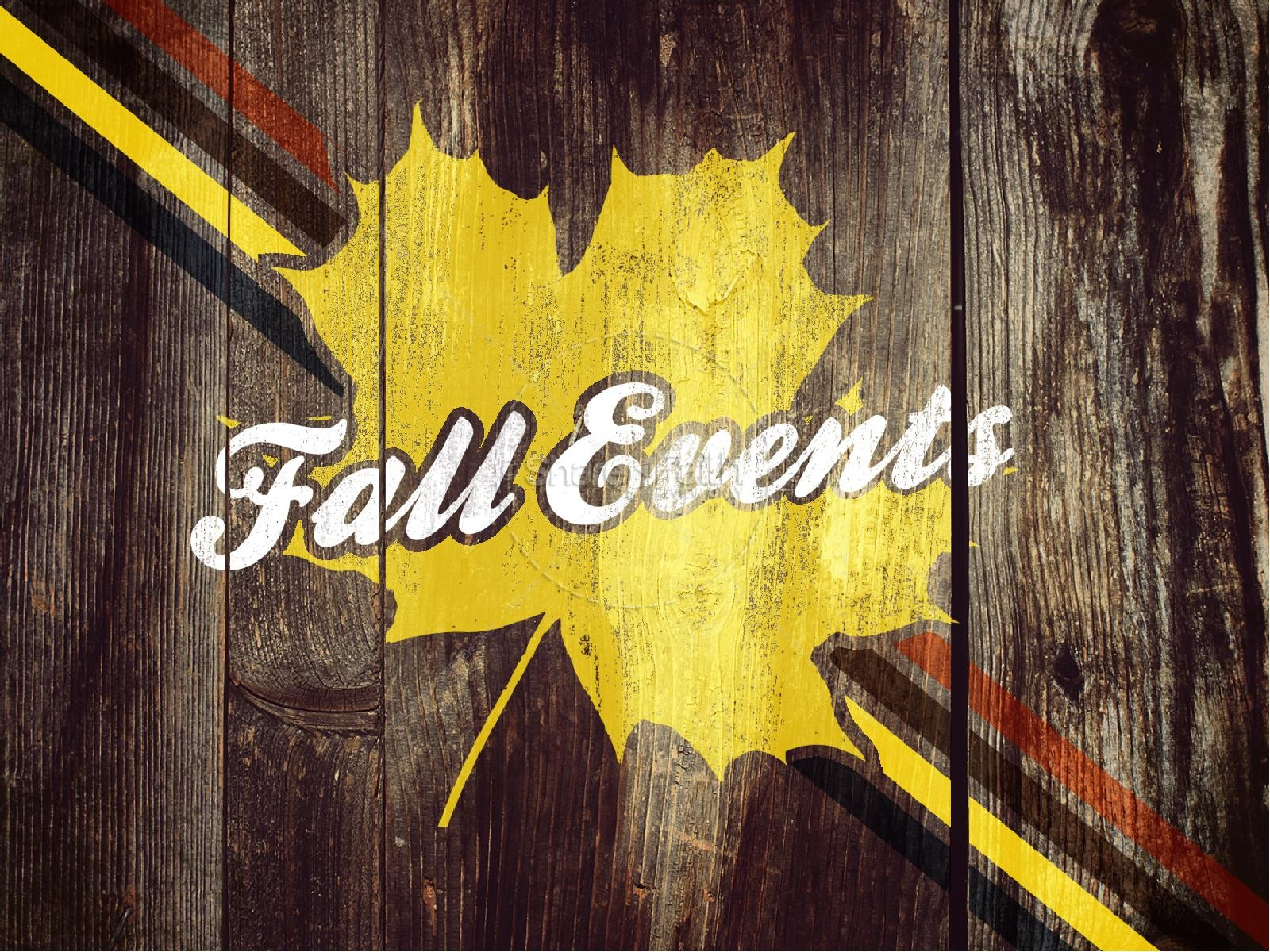 Fall Church Events PowerPoint